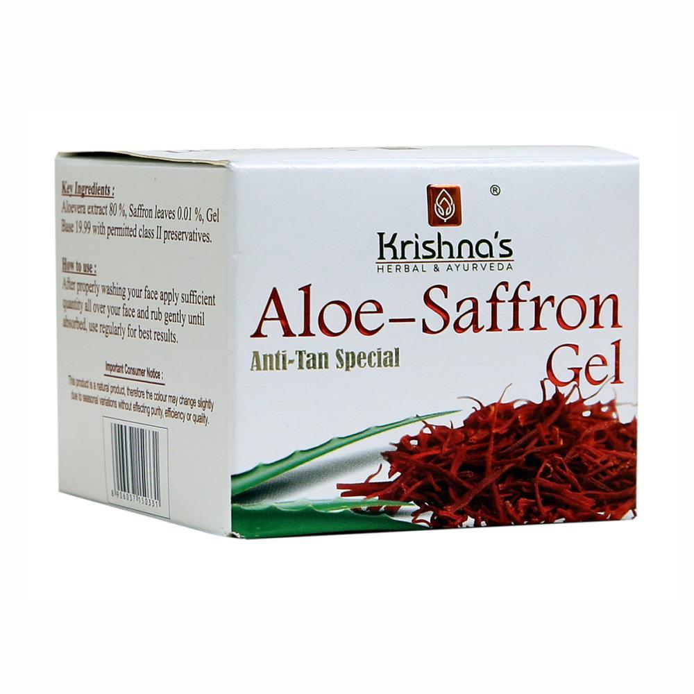 Krishna's Aloe-Saffron Gel (100g)