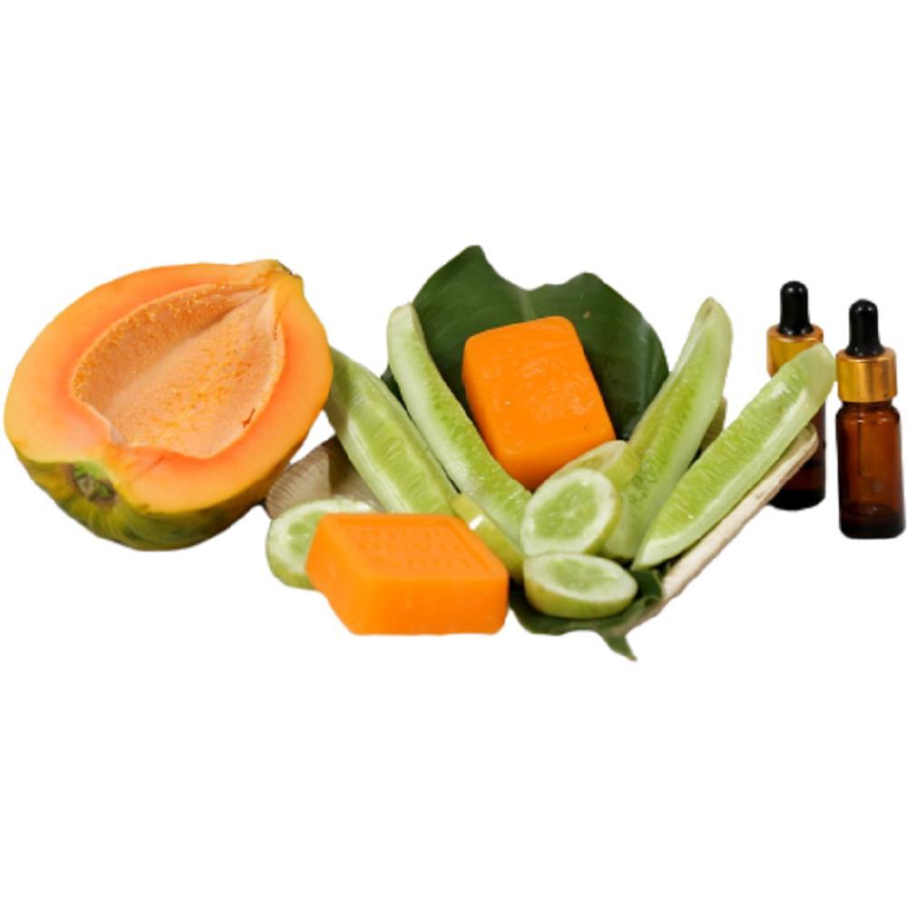 Care Bunch Handmade Papaya Cucumber Soap (70g)