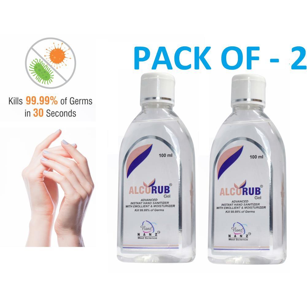 Nanz Comfort Alcorub Hand Sanitizer Gel (100ml, Pack of 2)