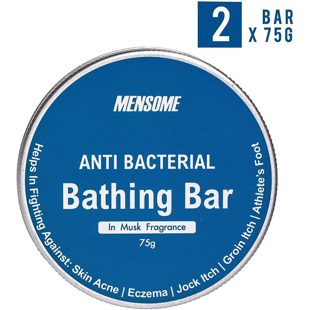Mensome Anti Bacterial Bathing Soap In Musk Fragrance (75g, Pack of 2)