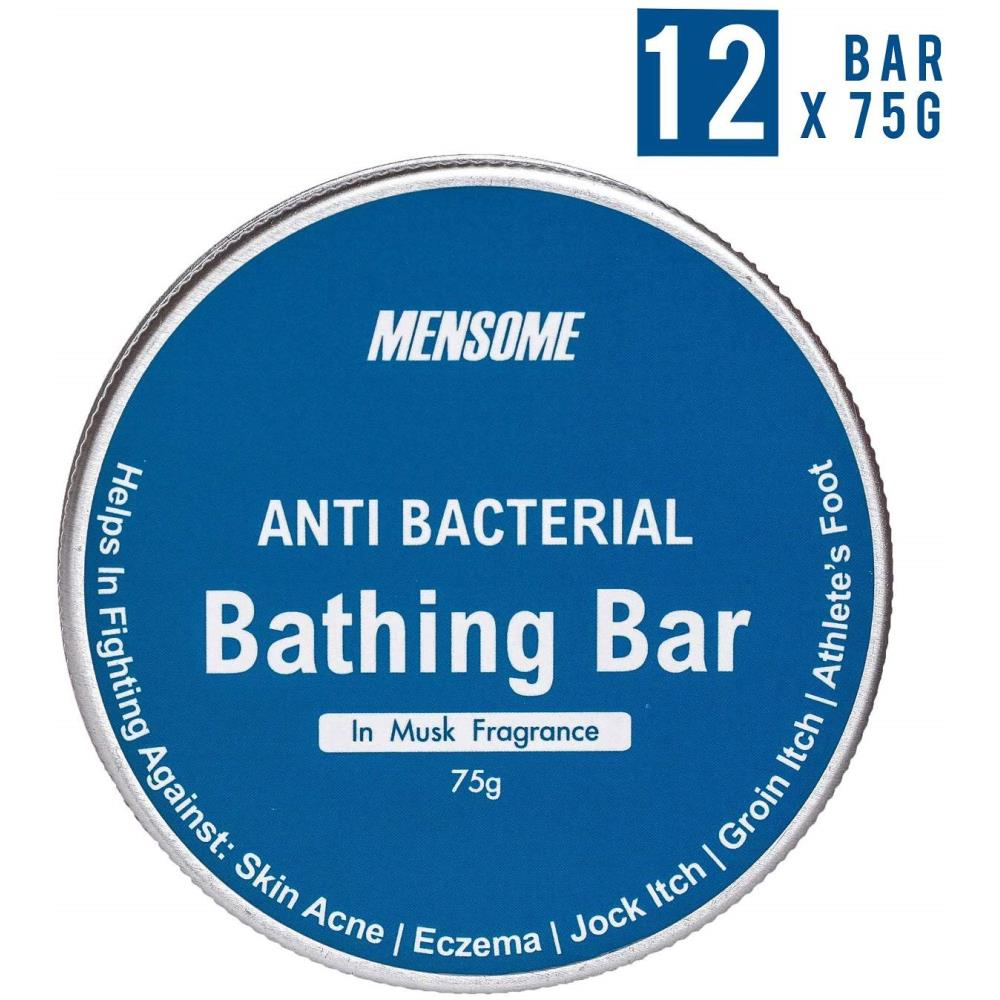 Mensome Anti Bacterial Bathing Soap In Musk Fragrance (75g, Pack of 12)