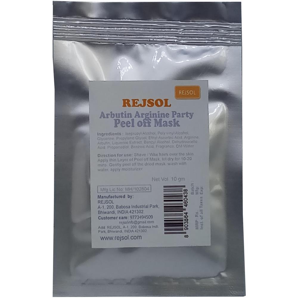 Rejsol Arbutin Arginine Party Peel Off Mask (10g, Pack of 10)