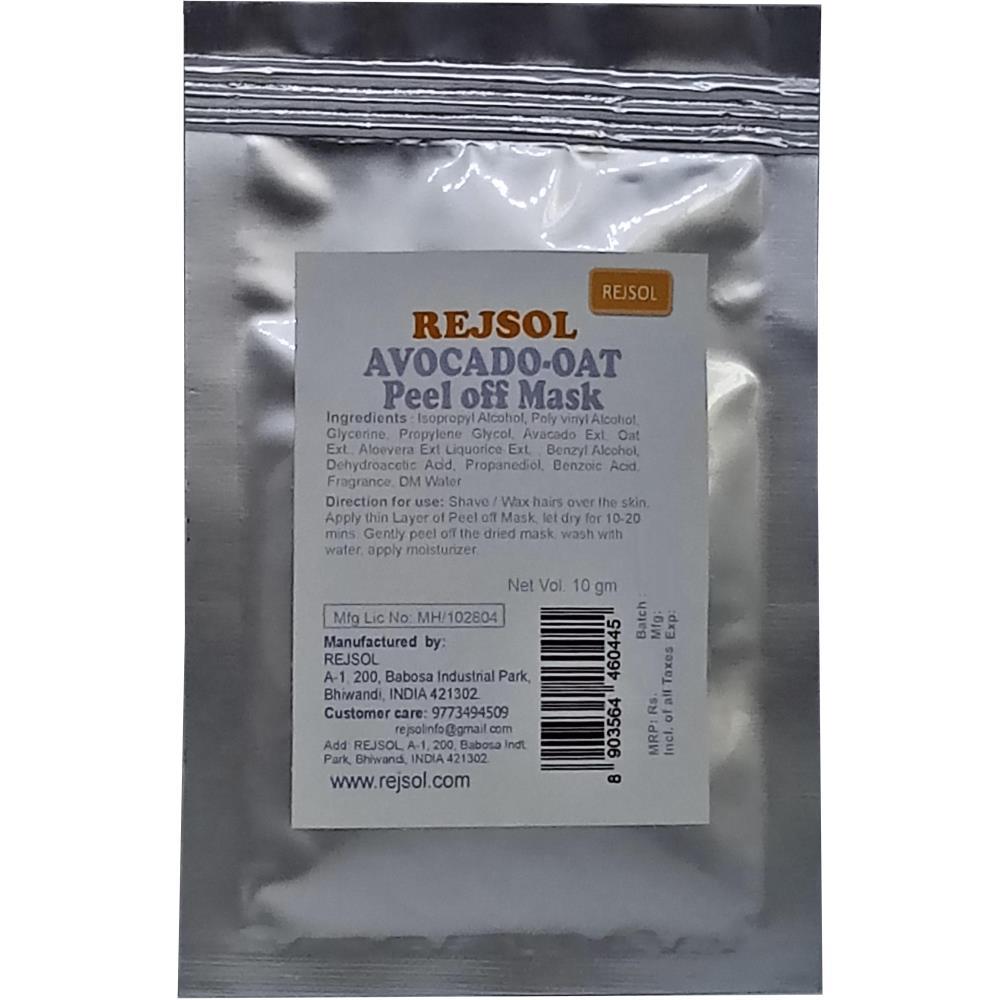 Rejsol Avocado-Oat Peel Off Mask (10g, Pack of 10)