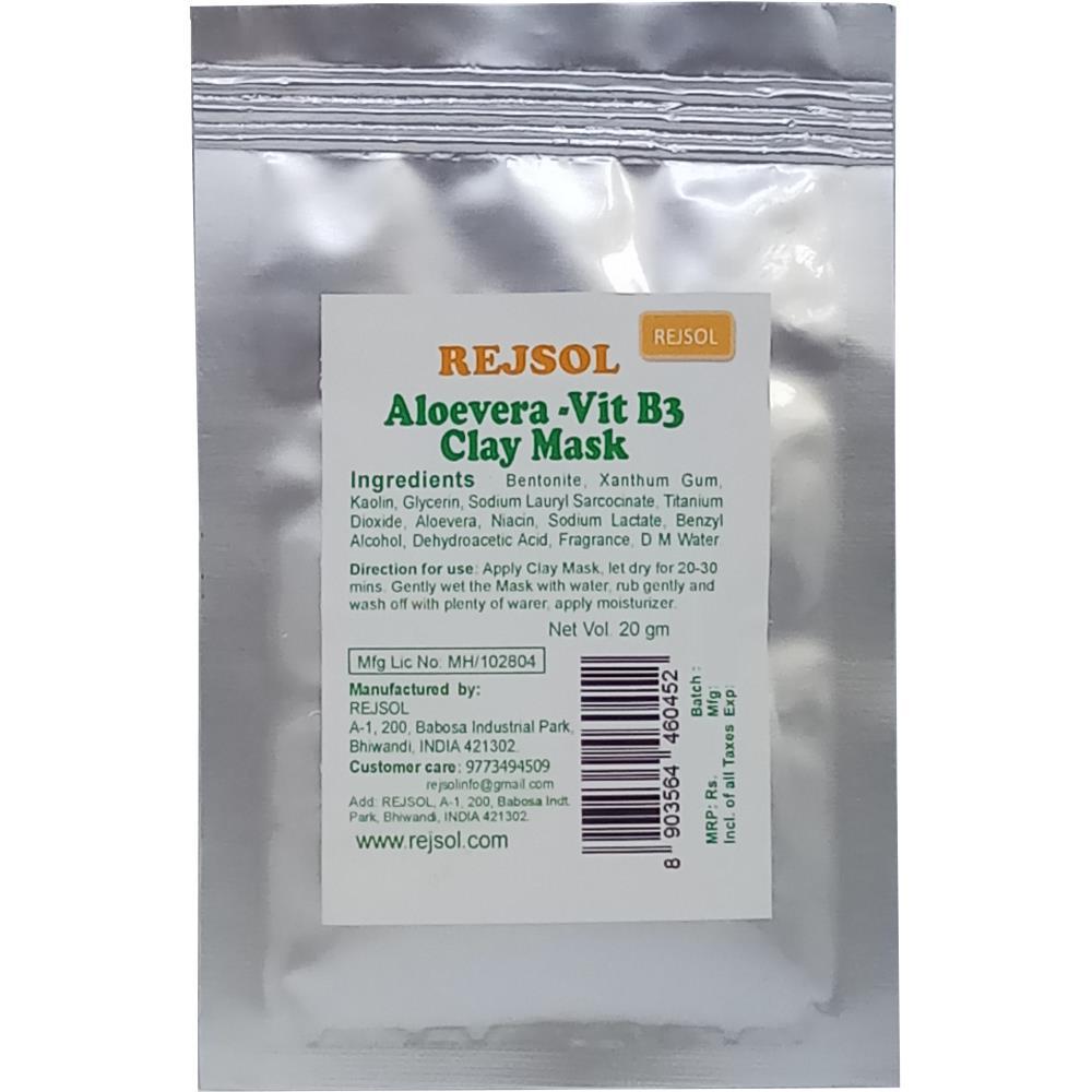 Rejsol Aloevera Vit B3 Clay Mask (20g, Pack of 10)
