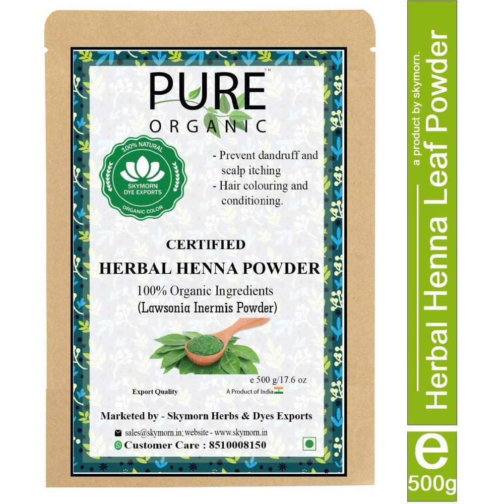 SkyMorn Organic Herbal Henna Powder Hair Color 100% Natural Hair Color (Green) (500g)