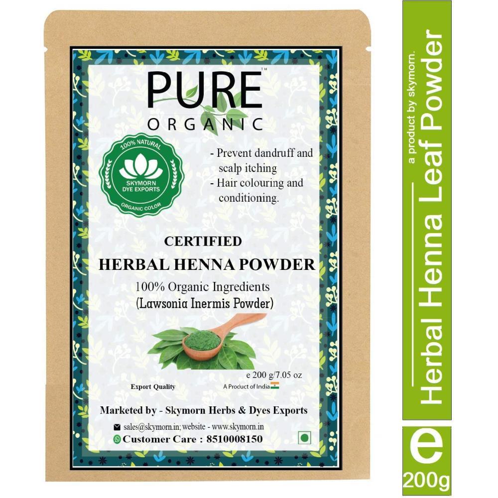 SkyMorn Natural Henna Leaf Powder Hair Color (100g, Pack of 2)