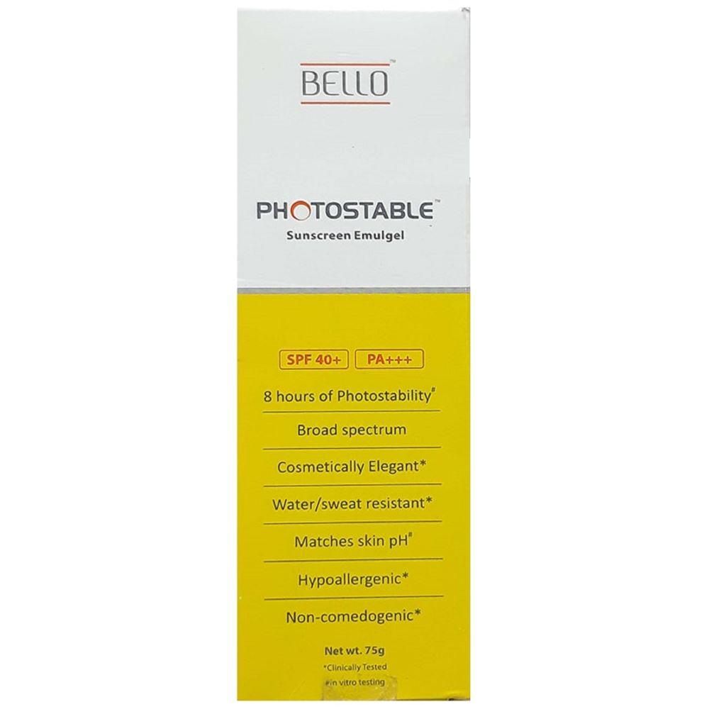 Sun Pharma Bello Photostable SPF 40+ Sunscreen Emulgel (75g)