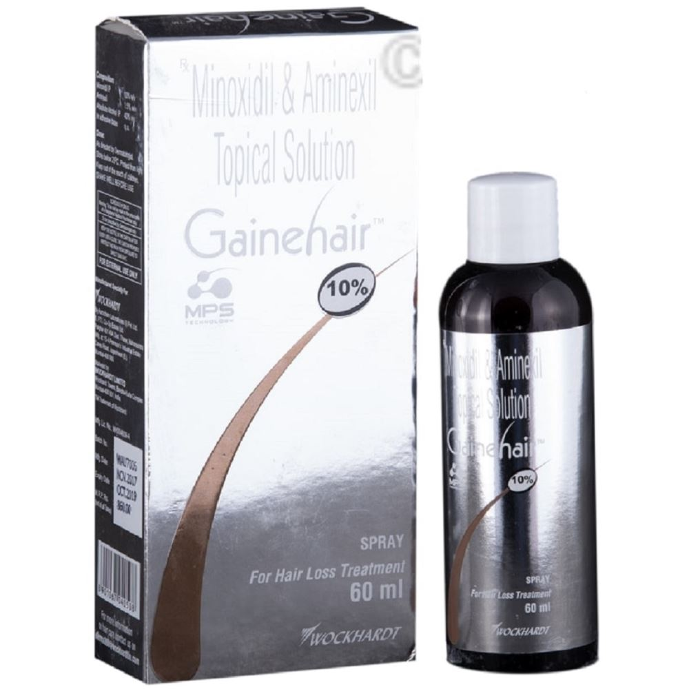 Wockhardt Ltd Gainehair Spray/Solution (10%w/v) (60ml)