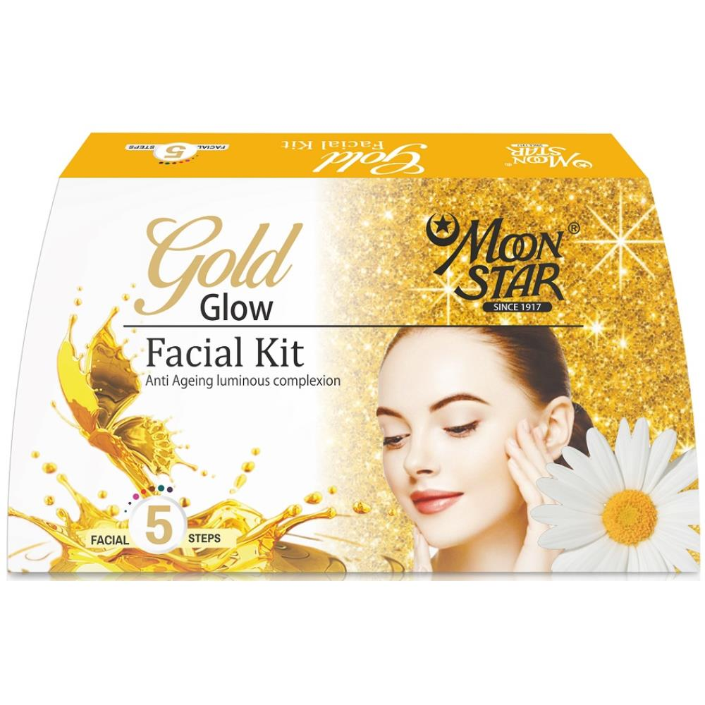 Moonstar Gold Glow Facial Kit (8ml, Pack of 5)
