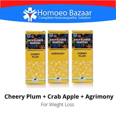 Bach Flower Remedies For Weight Loss (Cheery Plum + Crab Apple + Agrimony)