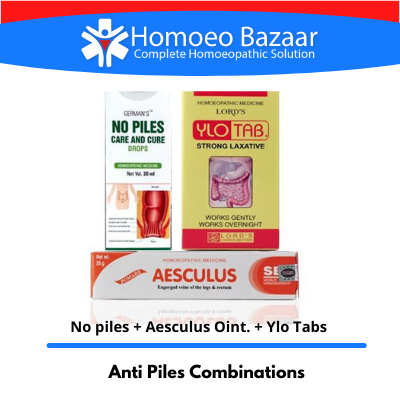 Anti-Haemorrhoids And Fissure  Cobinations (Yelo Tabs + No Piles Drops + Aesculus OInt.)
