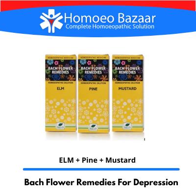 Bach Flower Remedies For Depression (ELM + Pine + Mustard)