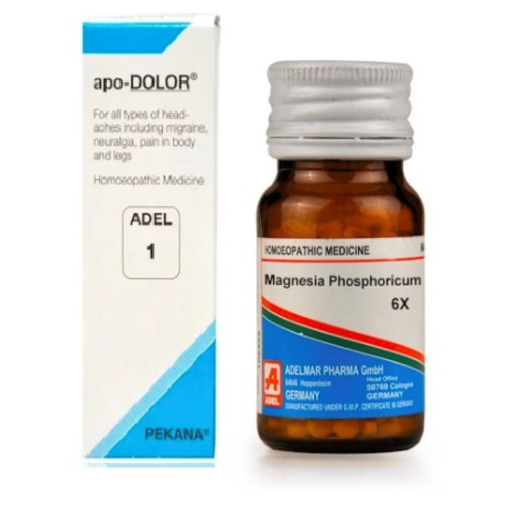 ADEL Anti-Migraine Combo (ADEL 1 + Magnesium Phosphoricum Biochemic Tablet 6X)