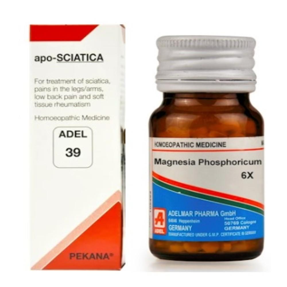 ADEL Anti Sciatica Combo (ADEL 39 + Magnesium Phosphoricum Biochemic Tablet)