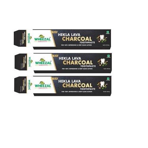 Wheezal Hekla Lava Charcoal Toothpaste (100g)
