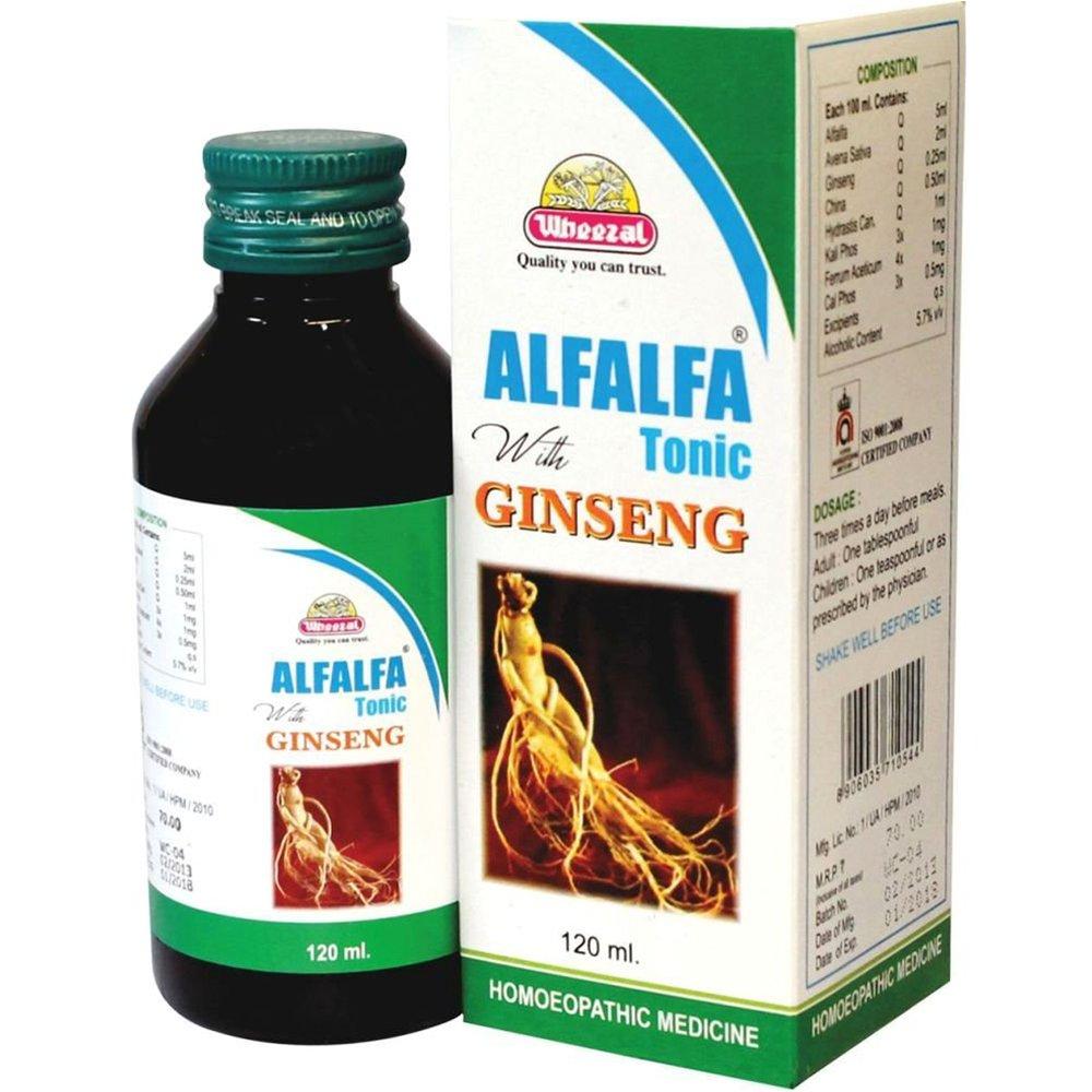 Wheezal Alfalfa With Ginseng (120ml)