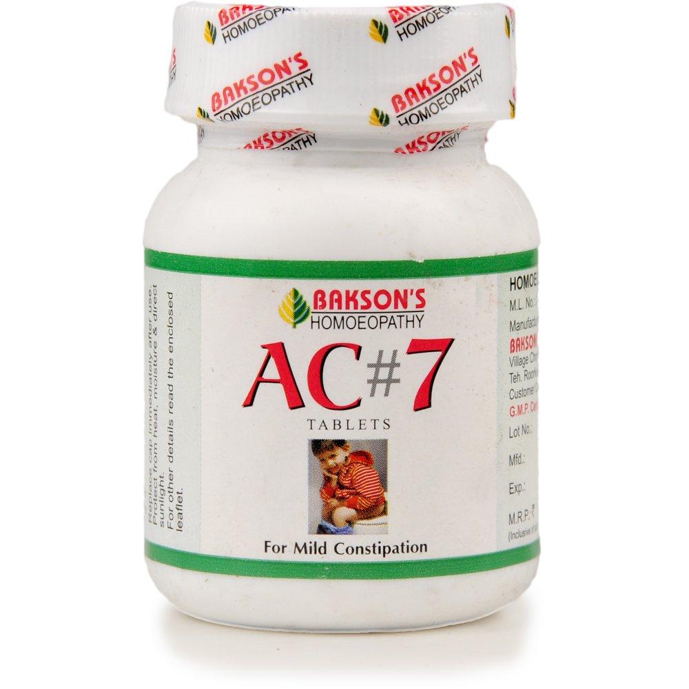 Bakson AC 7 Tablets (Constipation) (75tab)