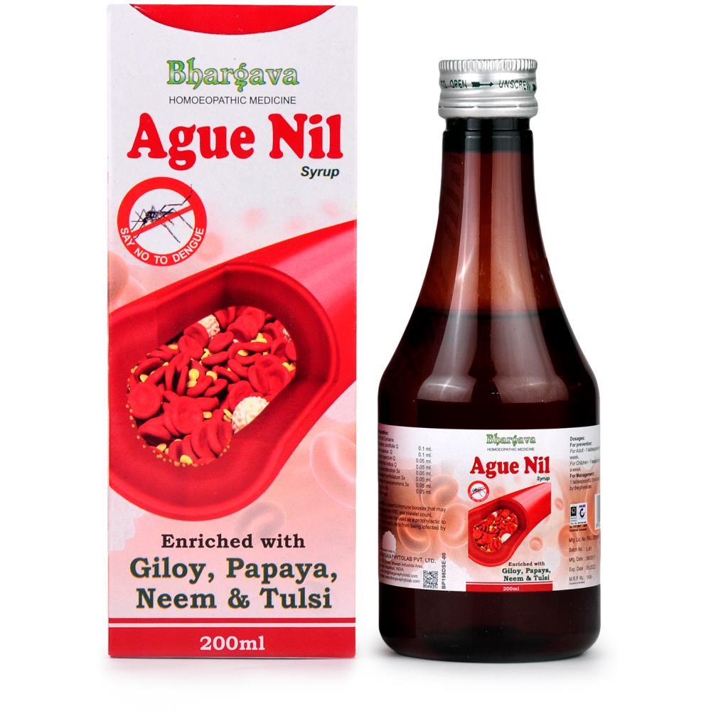 Dr. Bhargava Ague Nil Syrup with Giloy, Papaya, Neem and Tulsi (200ml)